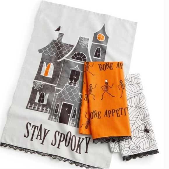 Martha Stewart 3Pc. Spooky Kitchen Towels Boutique